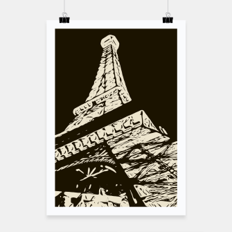 Miniaturka drawing Eiffel Tower, Paris in black and white Poster, Live Heroes