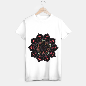 Thumbnail image of Decorative floral mandala with leaves and petals T-shirt regular, Live Heroes