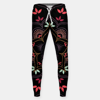 Thumbnail image of Decorative floral mandala with leaves and petals Sweatpants, Live Heroes