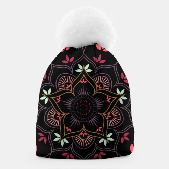 Thumbnail image of Decorative floral mandala with leaves and petals Beanie, Live Heroes