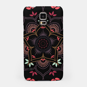Thumbnail image of Decorative floral mandala with leaves and petals Samsung Case, Live Heroes