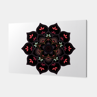 Thumbnail image of Decorative floral mandala with leaves and petals Canvas, Live Heroes