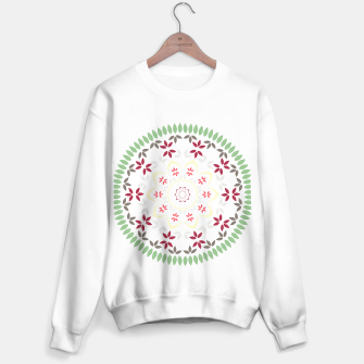 Thumbnail image of Leaf and floral radial Mandala Sweater regular, Live Heroes