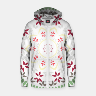 Thumbnail image of Leaf and floral radial Mandala Zip up hoodie, Live Heroes