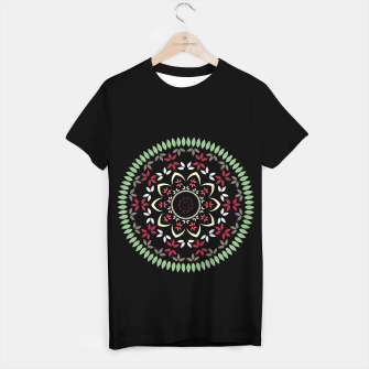 Thumbnail image of Leaf and floral radial Mandala T-shirt regular, Live Heroes