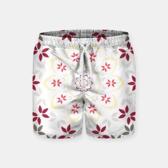 Thumbnail image of Leaf and floral radial Mandala Swim Shorts, Live Heroes