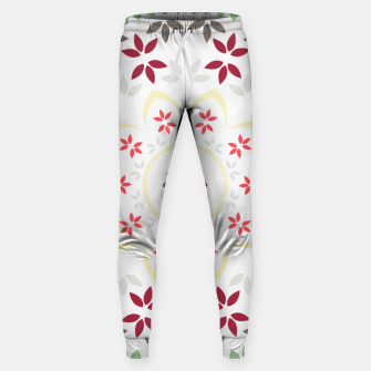 Thumbnail image of Leaf and floral radial Mandala Sweatpants, Live Heroes