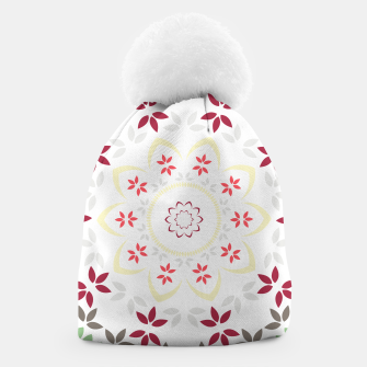 Thumbnail image of Leaf and floral radial Mandala Beanie, Live Heroes