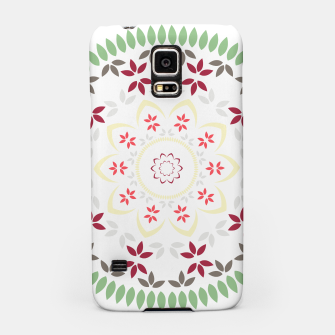 Thumbnail image of Leaf and floral radial Mandala Samsung Case, Live Heroes