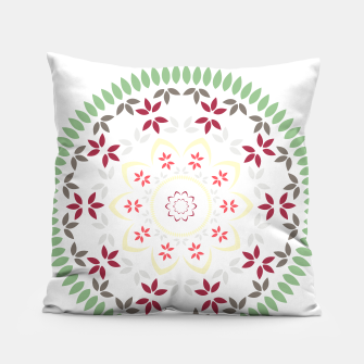 Thumbnail image of Leaf and floral radial Mandala Pillow, Live Heroes