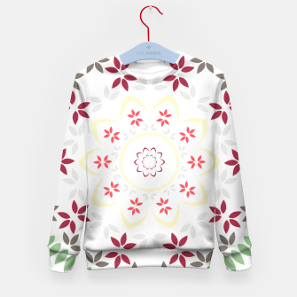 Thumbnail image of Leaf and floral radial Mandala Kid's sweater, Live Heroes