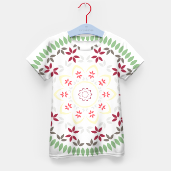 Thumbnail image of Leaf and floral radial Mandala Kid's t-shirt, Live Heroes
