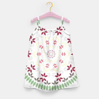 Thumbnail image of Leaf and floral radial Mandala Girl's dress, Live Heroes