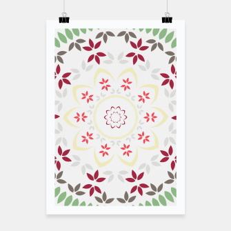 Thumbnail image of Leaf and floral radial Mandala Poster, Live Heroes