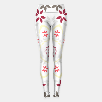 Thumbnail image of Leaf and floral radial Mandala Leggings, Live Heroes