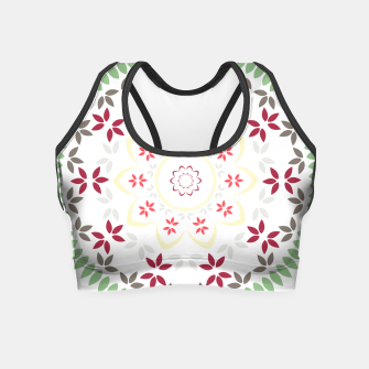 Thumbnail image of Leaf and floral radial Mandala Crop Top, Live Heroes