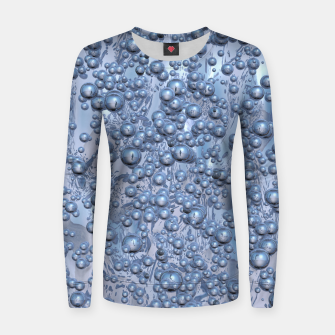 Thumbnail image of Chrome Bubbles Pattern Frauen sweatshirt, Live Heroes