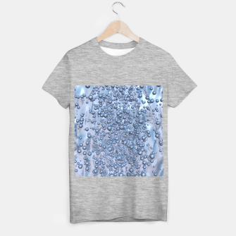 Thumbnail image of Chrome Bubbles Pattern T-Shirt regulär, Live Heroes