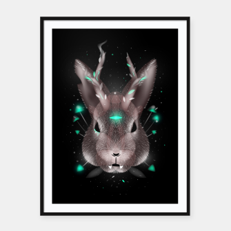 Thumbnail image of Dark Rabbit Framed poster, Live Heroes
