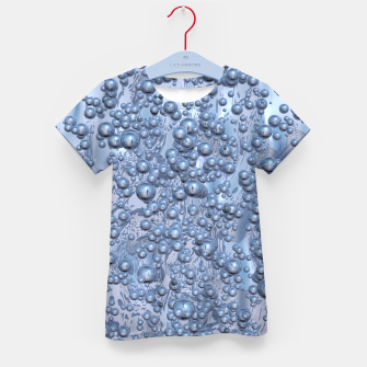 Thumbnail image of Chrome Bubbles Pattern T-Shirt für kinder, Live Heroes
