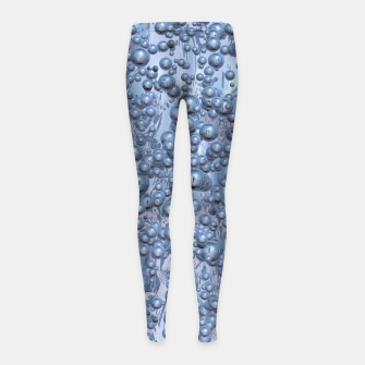 Thumbnail image of Chrome Bubbles Pattern Kinder-Leggins, Live Heroes