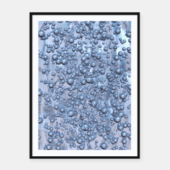 Thumbnail image of Chrome Bubbles Pattern Plakat mit rahmen, Live Heroes
