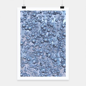 Thumbnail image of Chrome Bubbles Pattern Plakat, Live Heroes