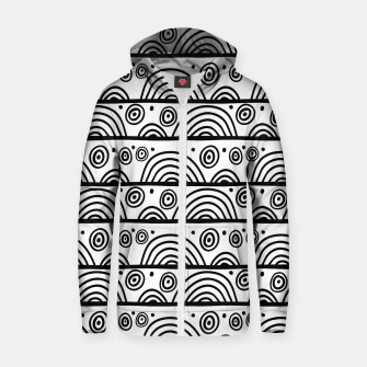 Thumbnail image of African Native Tribe - Pattern 08 - big Zip up hoodie, Live Heroes