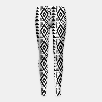 Thumbnail image of African Native Tribe - Pattern 09 - small Girl's leggings, Live Heroes