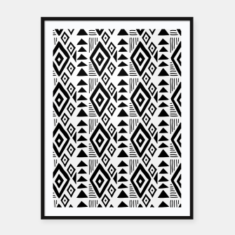 Thumbnail image of African Native Tribe - Pattern 09 - small Framed poster, Live Heroes