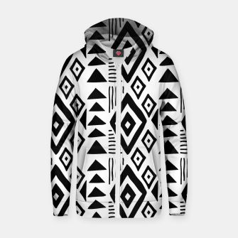 Thumbnail image of African Native Tribe - Pattern 09 - big Zip up hoodie, Live Heroes