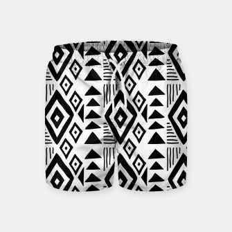 Thumbnail image of African Native Tribe - Pattern 09 - big Swim Shorts, Live Heroes