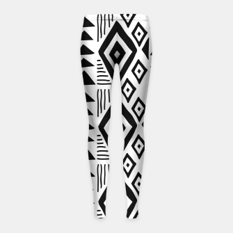 Thumbnail image of African Native Tribe - Pattern 09 - big Girl's leggings, Live Heroes