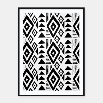 Thumbnail image of African Native Tribe - Pattern 09 - big Framed poster, Live Heroes
