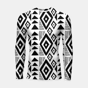 Thumbnail image of African Native Tribe - Pattern 09 - big Longsleeve rashguard , Live Heroes