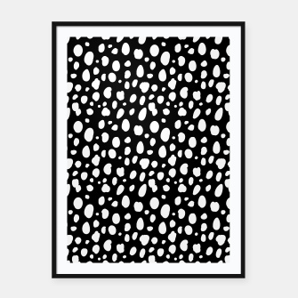 Thumbnail image of African Native Tribe - Pattern 10 - negative Framed poster, Live Heroes