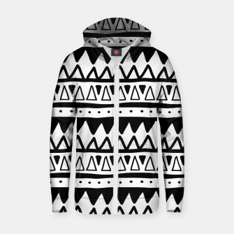 Thumbnail image of African Native Tribe - Pattern 11 - positive Zip up hoodie, Live Heroes