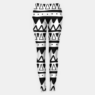 Thumbnail image of African Native Tribe - Pattern 11 - positive Leggings, Live Heroes