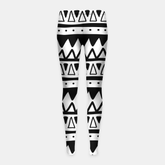 Thumbnail image of African Native Tribe - Pattern 11 - positive Girl's leggings, Live Heroes