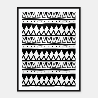 Thumbnail image of African Native Tribe - Pattern 11 - positive Framed poster, Live Heroes