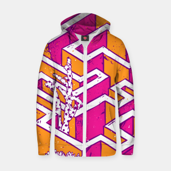 Thumbnail image of In a labyrinth Zip up hoodie, Live Heroes
