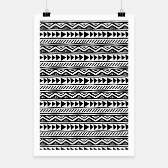 Miniatur African Native Tribe - Pattern 13 - small Poster, Live Heroes