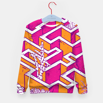 Thumbnail image of In a labyrinth Kid's sweater, Live Heroes