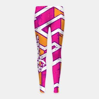 Thumbnail image of In a labyrinth Girl's leggings, Live Heroes