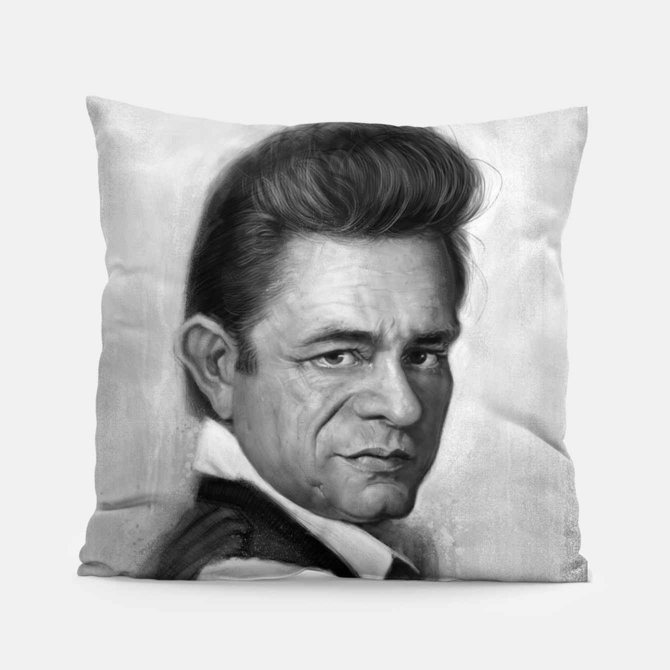 Image of Johnny Cash Pillow - Live Heroes