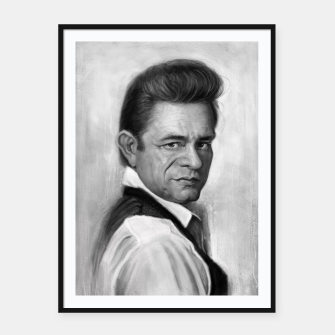 Thumbnail image of Johnny Cash Framed poster, Live Heroes