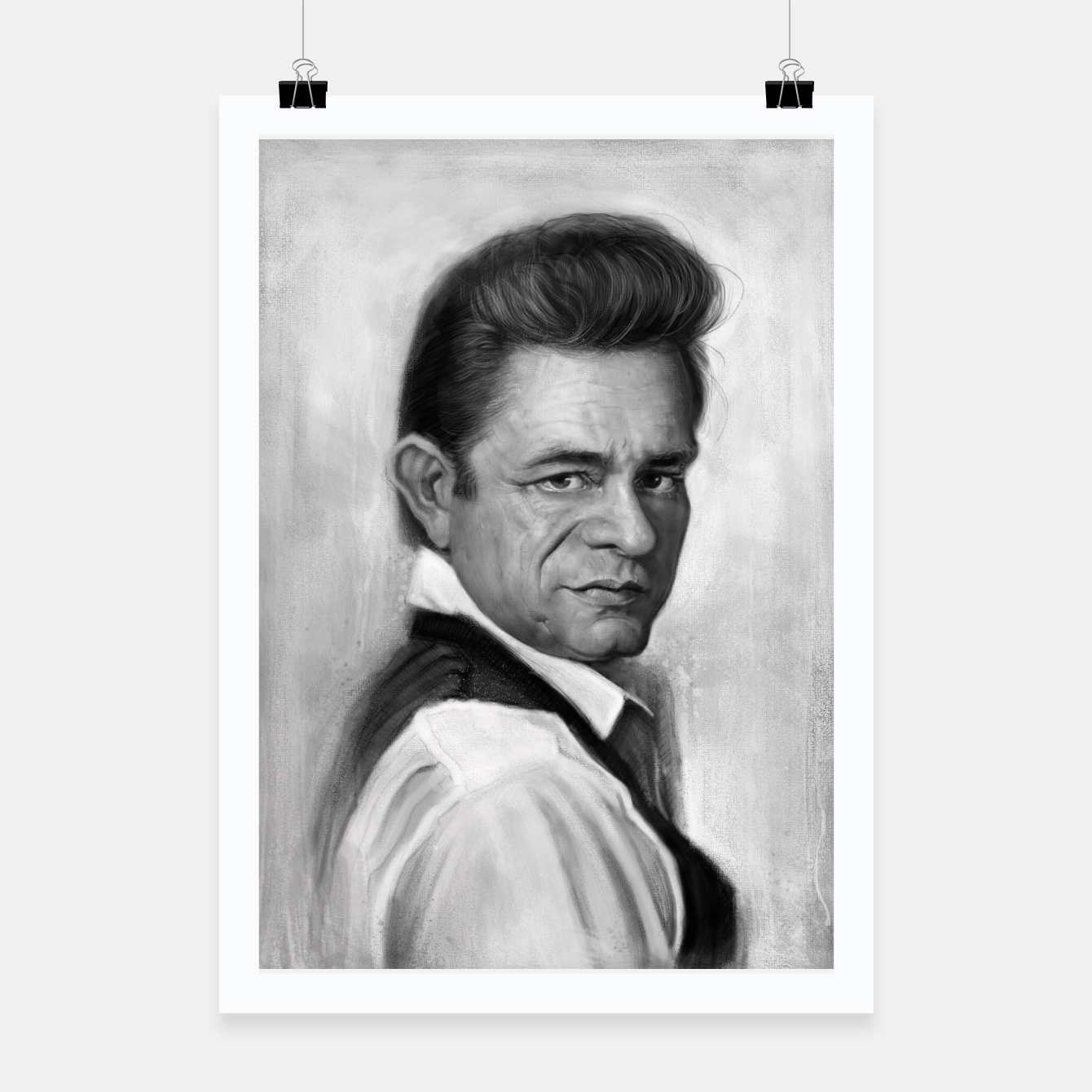 Image of Johnny Cash Poster - Live Heroes