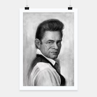 Thumbnail image of Johnny Cash Poster, Live Heroes