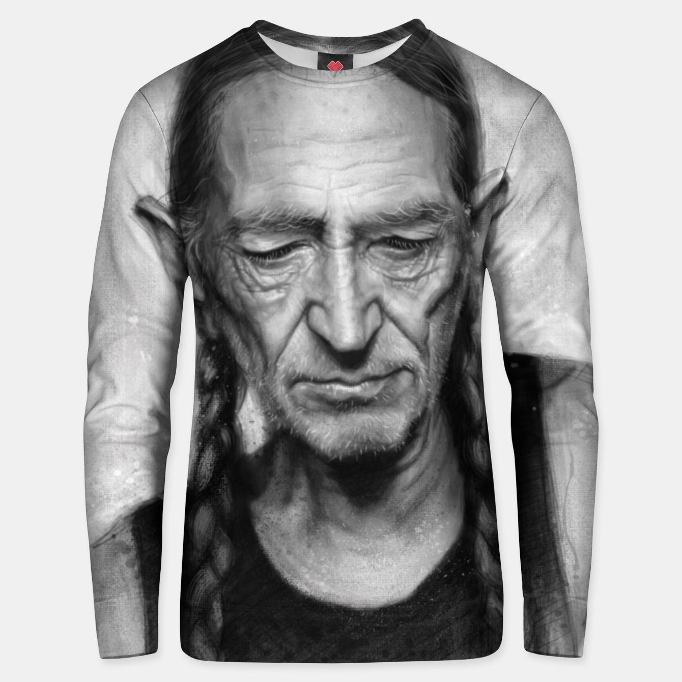 Image of Willie Nelson Unisex sweater - Live Heroes