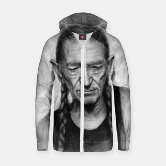 Thumbnail image of Willie Nelson Zip up hoodie, Live Heroes
